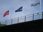 US Open 2009 Bethpage Black Gate and Flag.JPG